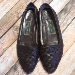 VTG Cole Haan Dark Brown Weaved Leather Slipons 8
